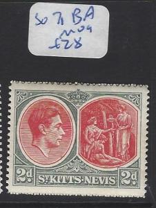 ST KITTS NEVIS  (PP2806B)  KGVI  2  D  SG 71BA   MOG