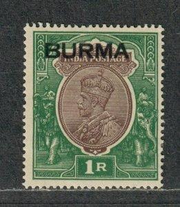 Burma Sc#13 M/H/VF, Cv. $35