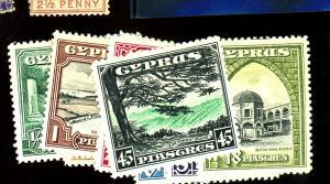 Cyprus #125-35 MINT F-VF OG LH Cat $209