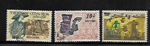 VIETNAM,398-400, USED, RICE HARVEST