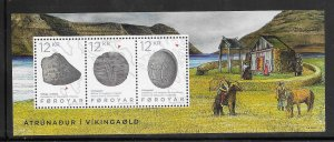 Faroe Islands #650 MNH 2015 Souvenir sheet of 3 Religion in the Viking Age