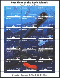 Palau. 1995. ml 868-85. Ships, disaster. MNH.