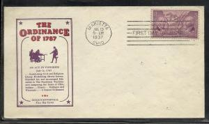 US #795-35 NW Territory Ioor cachet addressed Marietta