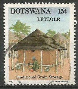 BOTSWANA, 1989, used 15t, Letlole daga granary, Scott 453