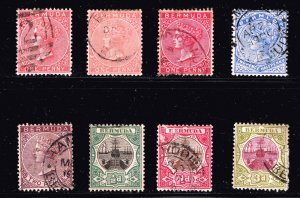 UK STAMP BERMUDA USED STAMPS  COLLECTION LOT #M1