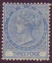Tobago SC# 2 Queen Victoria, 3p, perf 14, Mint no gum