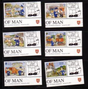 Isle of Man Sc 608-13 1994 Postman Pat stamp set NH