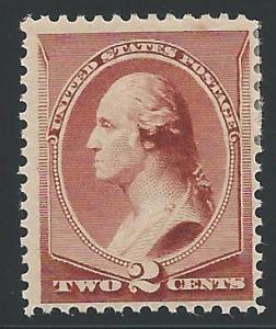 Scott 210, Original gum, 1881-8 Re-Engraved American Bank...