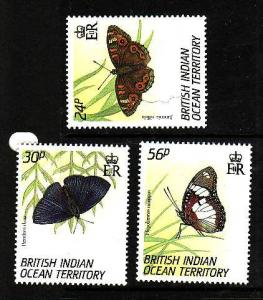 BIOT-Sc#148-50-unused NH set-Butterflies-Insects-1994-
