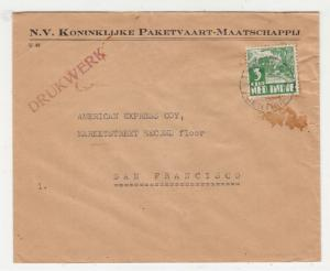 NETHERLANDS EAST INDIES, 1938 cover, Printed Matter, Batavia to USA 3c.