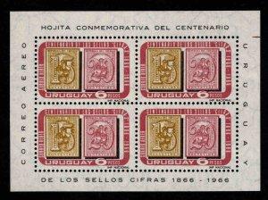Uruguay Scott C310a MNH** 1967 Souvenir sheet set