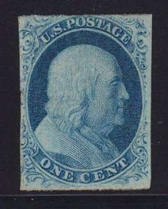 7 F-VF unused ( mint regummed ) with nice color cv $ 375 ! see pic !