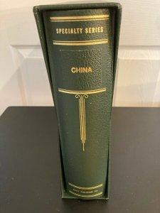 CHINA - Scott Album, Pages, Binder & Slipcase - 1878 to 1950 - Part I & II