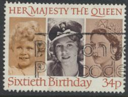 Great Britain SG 1318 - Used -QE II 60th Birthday
