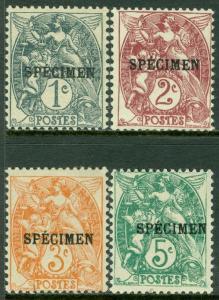 FRANCE : 1900. Maury #62-65 Overprint 'Specimen' All Fresh & VF MOGH. Cat €250.