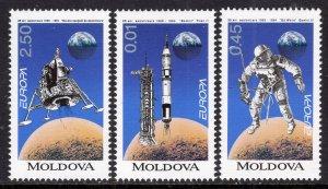 Moldova 115-117 Europa Space MNH VF