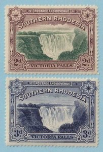 SOUTHERN RHODESIA 37 & 37A  MINT NEVER HINGED OG ** NO FAULTS EXTRA FINE! - Y298