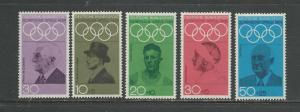 Germany Scott catalogue # 986 & B434-B437 Unused Hinged