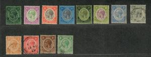 British Honduras Sc#92-103 M+U/H/F-VF, Partial Set, Cv. $156.35