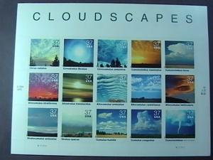 U.S.# 3878-MINT/NEVER HINGED-- PANE OF 15---CLOUDSCAPES--2004