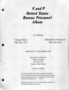 K&P US Bureau Precancel Album  - Free Shipping in US