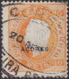 Azores 1882-1885 SC 53d Used