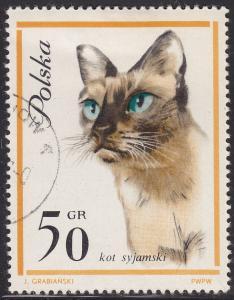 Poland 1218 USED 1964 Siamese Cat