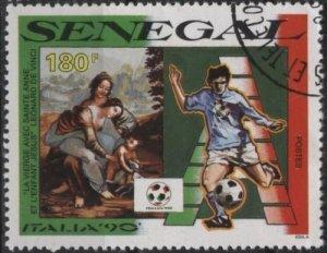 Senegal 880 (used cto) 180fr soccer / football, Italia '90