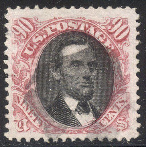 U.S. #122 Used BEAUTY - 1869 90c Lincoln