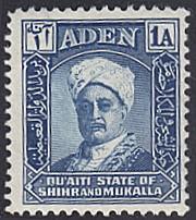 Aden - Shihr and Mukalla # 3 hinged ~ 1a Sultan Sir Saleh...
