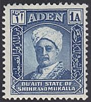 Aden - Shihr and Mukalla # 3 hinged ~ 1a Sultan Sir Saleh...