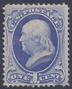 US Scott #134 used LH VF with APS Cert, Slight thin