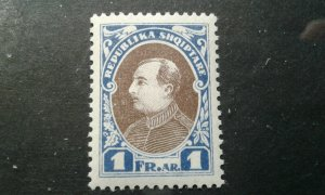 Albania #193 MNH (see note in Scott) ultra & brown e1911.5504