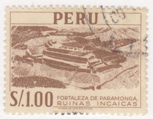 Peru, Sc 465 (1), Used, 1952, Paramonga Fortress