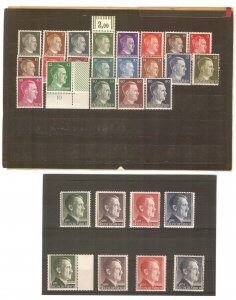 Germany 1941-44 Hitler definitives