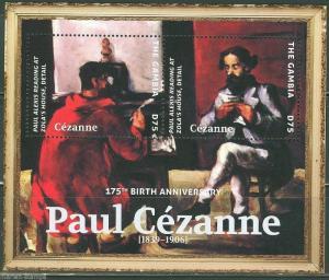 GAMBIA 2014  175th BRITH ANNIVERSARY OF PAUL CEZANNE SOUVENIR SHEET I MINT NH