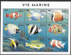 Mali MNH S/S Fish & Marine Life