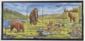 Ireland Sc 1208a 1999 Extinct Animals stamp souvenir sheet mint NH