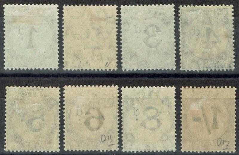 TRINIDAD 1905 POSTAGE DUE SET WMK MULTI CROWN CA