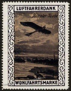 Germany WWI Rumpler Taube Air Force Memorial Luftfahrerdank Flight MNH   G102799