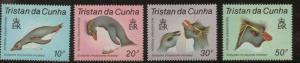TRISTAN DA CUNHA SG430/3 1987 PENGUINS MNH