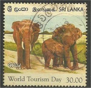SRI LANKA, 2011, used 30r, Toutism, Elephants Scott