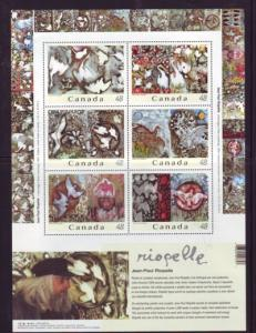 Canada Sc 2002 issued 2003 Riopelle Paintings stamp sheet mint NH