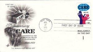 1971, 25th Anniv. 0f CARE, Unaddressed, Artcraft, FDC (D8237)
