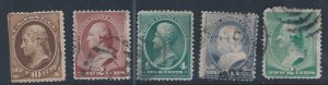 U.S. #209,210,211,212,213 SCV $34.85 STARTS AT A LOW PRICE!