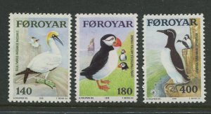 STAMP STATION PERTH Faroe Is. #36-38 Pictorial Definitive Issue MNH 1973 CV$3.00