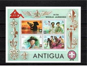 Antigua 1975 Sc 386a Souvenir Sheet Perforate FDC