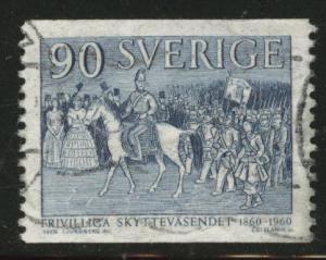 SWEDEN Scott 557 used 1960 rifelmen stamp