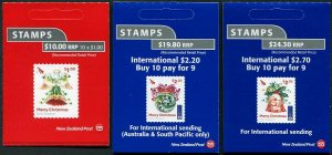 HERRICKSTAMP NEW ISSUES NEW ZEALAND Sc.# 2762a-64a Christmas 2017 Booklets