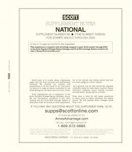 2020 Scott National Album Supplement, No. 88